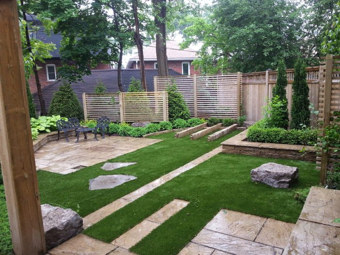 Gorgeous example of synthetic lawn